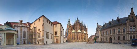 St Vitus Cathedral, Hradcany-Kasteel, Praag royalty-vrije stock afbeelding