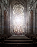 St. Vitus Cathedral in Hradcany, the most famous church in Pragu Stock Image