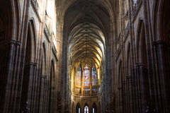 St. Vitus Cathedral in Hradcany, is the most famous church in Prague Castle Stock Photography
