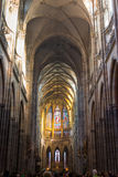 St. Vitus Cathedral in Hradcany, is the most famous church in Prague Castle Royalty Free Stock Images