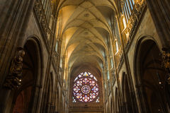 St. Vitus Cathedral in Hradcany, is the most famous church in Prague Castle Royalty Free Stock Image