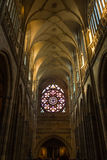 St. Vitus Cathedral in Hradcany, is the most famous church in Prague Castle Royalty Free Stock Photos