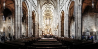 St. Vitus Cathedral in Hradcany, the most famous church Stock Photos