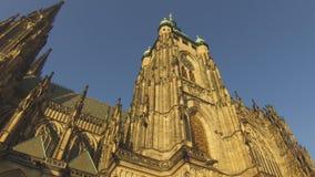 St Vitus Cathedral i Hradcany, Prague arkivfilmer