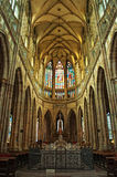 St. Vitus cathedral interior Royalty Free Stock Image