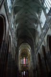 St.Vitus Cathedral interior Royalty Free Stock Photo