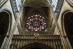St. Vitus cathedral interior Stock Photos
