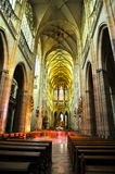St Vitus Cathedral Interior, Prague Royaltyfri Bild
