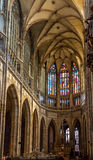 St. Vitus cathedral interior in Prague Royalty Free Stock Photos