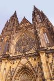 St Vitus Cathedral - la repubblica Ceca di Praga Fotografia Stock Libera da Diritti