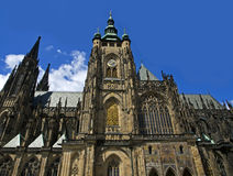 St.Vitus cathedral. Located in Prague castle area, Prague, Czech republic Royalty Free Stock Images