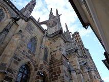 St. Vitus Cathedral, Metropolitan Cathedral of Saints Vitus, Wenceslaus and Adalbert, Prague, Czech Republic stock photo