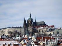 St. Vitus Cathedral, Metropolitan Cathedral of Saints Vitus, Wenceslaus and Adalbert, Prague, Czech Republic royalty free stock photo