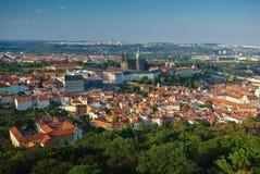 St Vitus Cathedral panorama Stock Photo