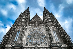 St. Vitus Cathedral in Pargue. The St. Vitus Cathedral in Prague Stock Image