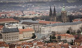 St Vitus Cathedral in Praag Royalty-vrije Stock Afbeelding