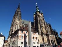 St Vitus Cathedral in Praag Royalty-vrije Stock Foto's