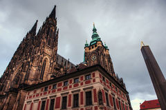 St Vitus Cathedral in Praag stock foto's