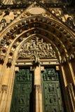 St. Vitus Cathedral, Prag-Schloss, alte Häuser, Prag, Tschechische Republik Lizenzfreie Stockfotos