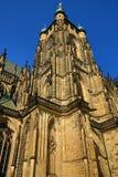 St. Vitus Cathedral, Prag-Schloss, alte Häuser, Prag, Tschechische Republik Stockbilder