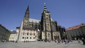 St Vitus Cathedral a Praga stock footage