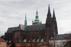 St Vitus Cathedral a Praga Fotografie Stock