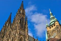 St Vitus Cathedral a Praga Immagine Stock