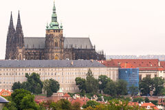 St Vitus Cathedral a Praga al giorno Immagine Stock Libera da Diritti