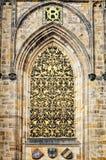 St Vitus Cathedral, Praga del dettaglio del primo piano Fotografia Stock Libera da Diritti