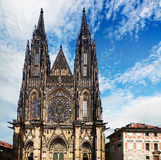 St. Vitus Cathedral, Prague. Saint Vitus Cathedral, the largest church in the castle of Prague, Czech Republic stock image
