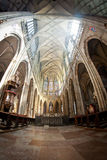 St. Vitus Cathedral in Prague. Interior of St. Vitus Cathedral in Prague Royalty Free Stock Photography