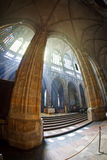 St. Vitus Cathedral in Prague. Interior of St. Vitus Cathedral in Prague Stock Image