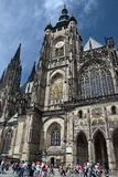 St.Vitus cathedral - Prague. Prague castle - view to front of St.Vitus cathedral Royalty Free Stock Photography