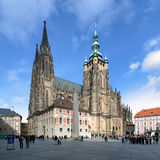St. Vitus Cathedral in Prague Stock Photos