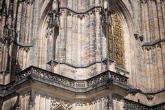 St. Vitus Cathedral Prague. Detail of St. Vitus Cathedral in prague Stock Photos