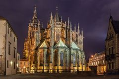 St. Vitus Cathedral. In Prague Royalty Free Stock Photography