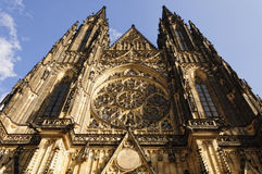 St Vitus Cathedral in Prague. The exterior of the St. Vitus Cathedral in Prague royalty free stock photos