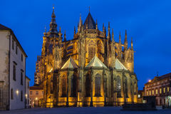 St. Vitus Cathedral. In Prague Stock Photos