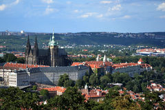 St. Vitus Cathedral and Prague castle Stock Images