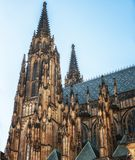 St. Vitus Cathedral in Prague Castle, Czech Republic. Prague, Czech Republic, 04 April 2018: West towers of the Gothic Cathedral of St. Vitus, Prague, Czech Stock Images
