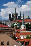 St. Vitus Cathedral in Prague Castle, Czech Republic royalty free stock photography