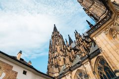 St. Vitus Cathedral at Prague Castle in Czech. Republic royalty free stock photography