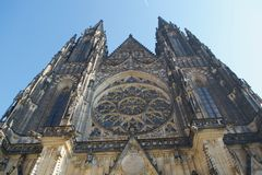St Vitus Cathedral Prague Castle arkivbild