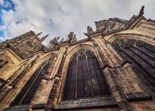 St. Vitus cathedral in Prague Castle, Prague, Czech Republic.  Stock Photo