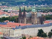 St. Vitus cathedral in Prague Castle, Prague, Czech Republic.  Stock Photography