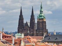 St. Vitus cathedral in Prague Castle, Prague, Czech Republic.  Stock Image