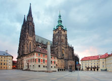 St. Vitus cathedral in Prague Castle in Prague Royalty Free Stock Photos