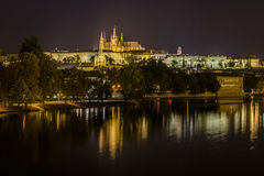 St Vitus Cathedral and Prague Castle Stock Photo