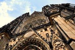 St. Vitus Cathedral in Prague, Czech Republic. Vertical image of St. Vitus Cathedral in Prague, Czech Republic stock photos