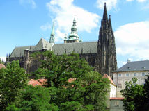 Beautiful Prague. St. Vitus Cathedral in Prague, Czech republic royalty free stock photos